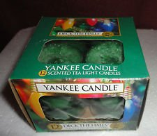 Yankee Candle Deck The Halls Tea Lights Box Of 12