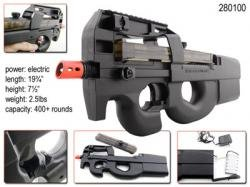 P90 Electric Airsoft Rifle - 400 Bbs Per Minute