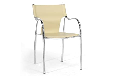 Harris Ivory Modern Dining Chair with Chanasya Polish Cloth Bundle (Set of Two)