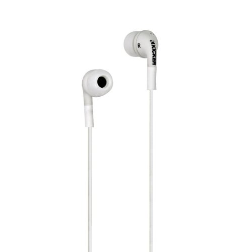 Kicker Flow Noise Isolation In-Ear Monitors, White