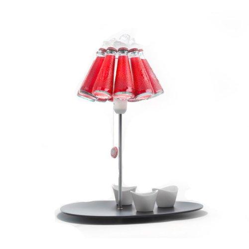 Ingo Maurer Campari Bar Tischleuchte, rot Glas 2800K Lieferung ohne Schälchen