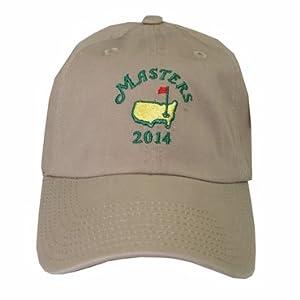 2014 Masters Golf Caddy Slouch Hat - Khaki