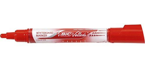 Bic Lot de 3 Whiteboard-Markers Velleda Liquid Ink Tank, rouge