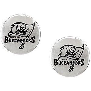 Stainless Steel Tampa Bay Bucs Logo Stud Earrings PAIR 10.00MM X 10.00MM