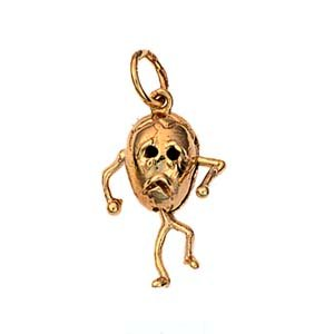 9ct Gold 17x13mm Humpty Dumpty pendant or charm by British Jewellery Workshops