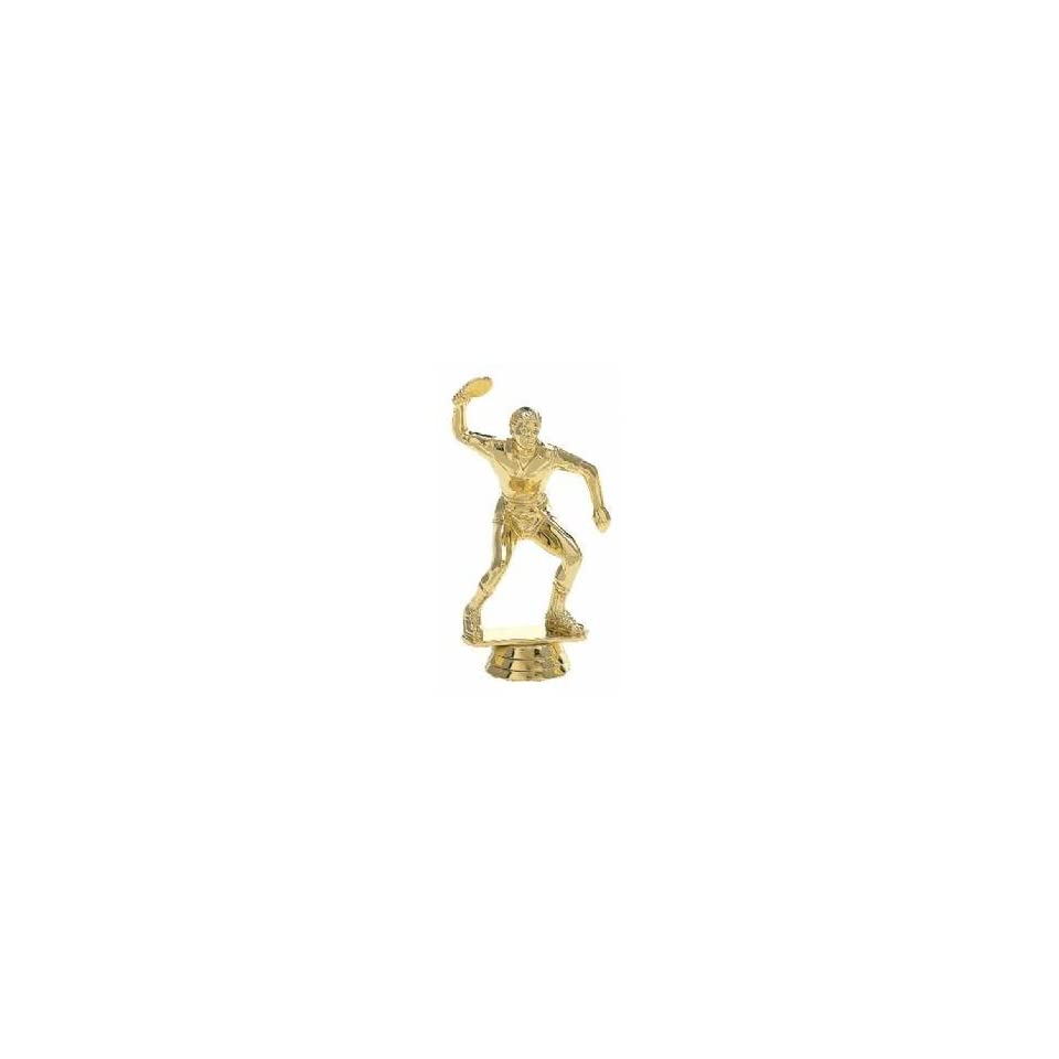 Gold 4 1/2 Male Table Tennis Trophy Ping Pong Figure Trophy
