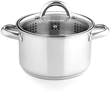 Stainless Steel 4 Qt. Stockpot with Steamer Insert