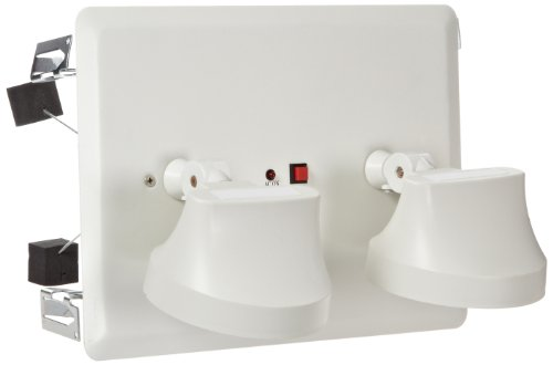 Morris Products 73158 Recessed Twin Head Emergency Lighting Units White