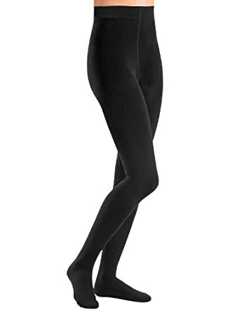 Fleece-Lined Tights - Petite/Medium or Medium/Tall Size, Color Black, Size MT