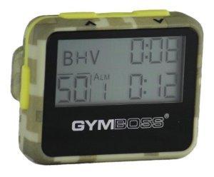 sport chronom tres gymboss minuteur d 39 intervalle et chronom tre coque vert camouflage jaune. Black Bedroom Furniture Sets. Home Design Ideas