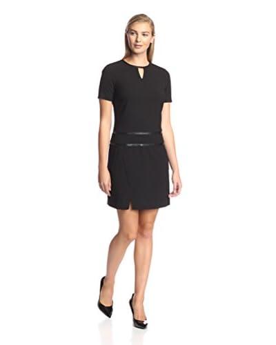 Marc New York Women's Cap Sleeve Keyhole Dress