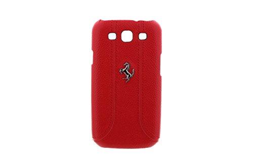 Ferrari Serie FF Samsung Galaxy S3 I9300, I9305 Cover Rigida in Pelle, Custodia, Case - Cuoio Zigrinato Colore Rosso