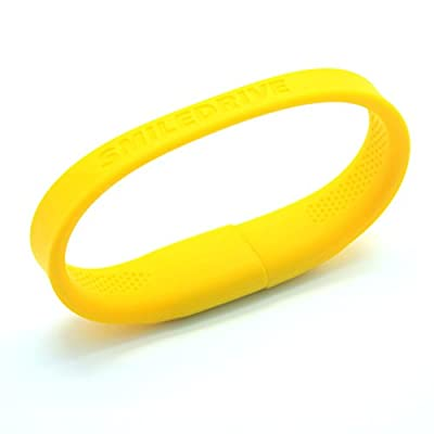 Smiledrive 32GB SUPERFAST USB 3.0 WRISTBAND PEN DRIVE-WEARABLE PENDRVIE (YELLOW)
