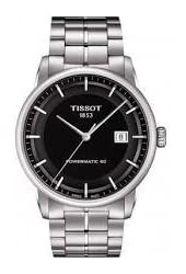 Tissot T-Classic Powermatic 80 Automatic Black Dial Stainless Steel Mens Watch T0864071105100