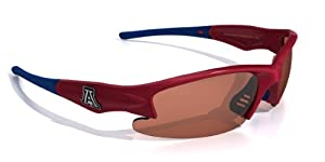 NCAA Arizona Wildcats Dynasty Sunglasses with Bag, Red and Blue, Adult by Maxx