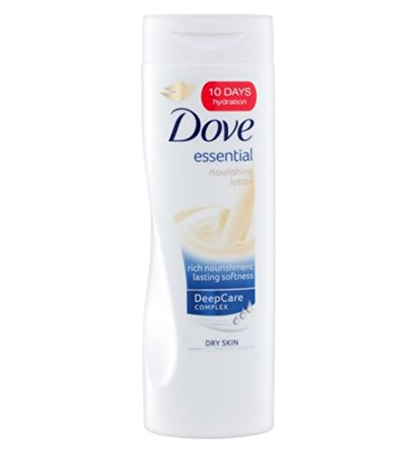 Dove Essential Nourishing Lotion for Dry Skin 400 mL with Free Ayur Soap