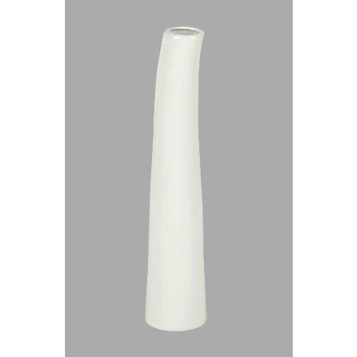 "Keramik Vase ""RESSINA"" cm 30 cm. Handgefertigt, in WEISS -40"