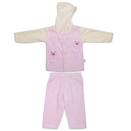 kandyfloss Kandy Floss Pink & Cream Fur Hood Jacket with Pant for Kid
