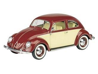 Imagen principal de 450336600 - Schuco - VW Beetle, rojo-amarillento 1:43
