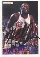 Herb Williams New York Knicks 1995 Fleer Autographed Hand Signed Trading Card. by Hall of Fame Memorabilia
