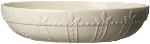 Signature Housewares Sorrento Collection 12-Inch Large Pasta Bowl, Ivory Antiqued Finish