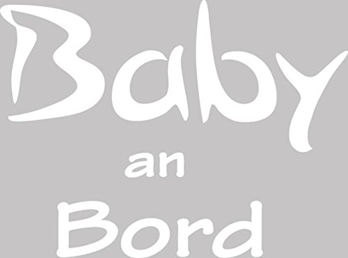 autoaufkleber aufkleber f r auto heckaufkleber klein spruch baby an bord 14x10cm 010 weiss. Black Bedroom Furniture Sets. Home Design Ideas