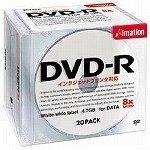 Imation DVD-R 4.7GB データ用(8倍速) ワイドエリアフリープリント(ホワイト) 20枚パック DVD-R 4.7PWAx20P