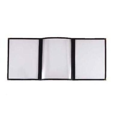Browne-Halco 79941 Plastic Triple Panel Menu Cover, 8-1/2 by 11-Inch
