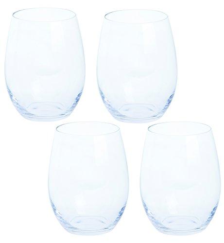 Dartington Crystal vin Plus vin rouge sans pied, transparent, lot de 4
