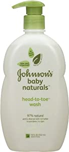 Johnson's Natural Head-to-Toe Baby Wash, 18 Ounce