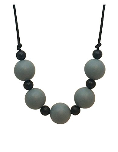 Aenki Silicone Teething Nursing Necklace Alice Grey