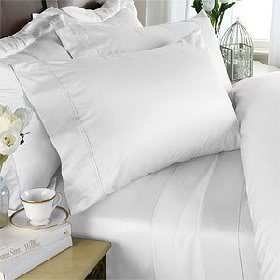 1500 Thread Count Egyptian Cotton 1500TC Pillow Case Set, Queen, White Solid 1500 TC