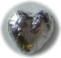 Silver Foiled Chocolate Hearts 1 Lb - Wedding Favors