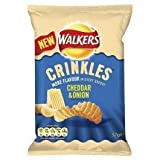 New Walkers Crinkles Cheddar and Onion Flavoured Crisps 48x38g Bags
