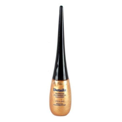 Mehron Paradise Detailz Face Paints - Gold GD (0.17 oz/5 ml) (Detailz Liquid Eyeliner)