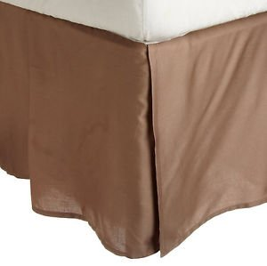 "650 Tc Egyptian Cotton 1X Bed Skirt For Rv'S, Campers, Bunk & Travel Trailers 25"" Drop Rv Bunk (28X75"") Taupe Solid front-393612"