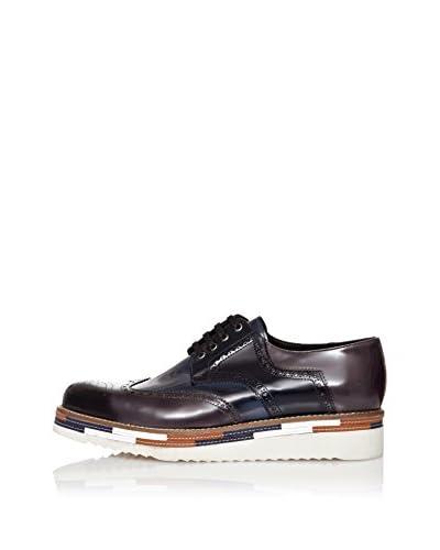 RRM Zapatos Derby Picados Azul Marino