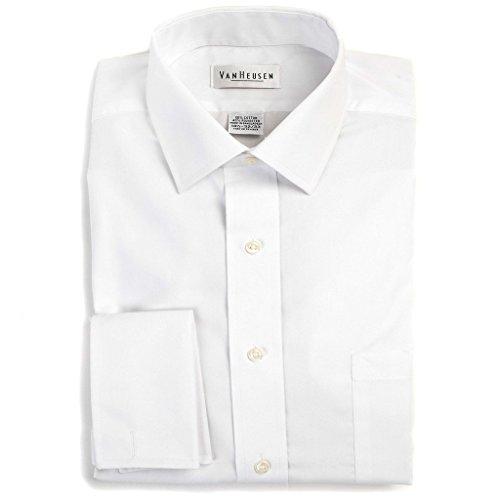 Van-Heusen-Mens-Regular-Fit-Wrinkle-Free-Broadcloth-French-Cuff-Solid-Dress-Shirt