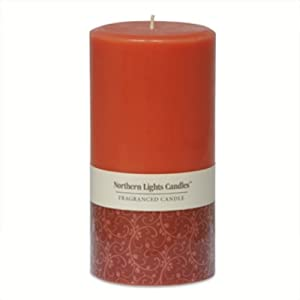 Northern Lights Candles - 3x6 Pillar-Spiced Apple