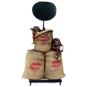 Quality Coffee Aufsteller mit 2 Coffebohnen Dekorationsfigur