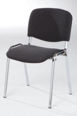 Besucherstuhl-stapelbar-Rckenlehne-gepolstert-Gestell-verchromt-Polster-anthrazit-VE-4-Stk-Besprechungsstuhl-Besucherstuhl-Konferenzstuhl-Polsterstapelstuhl-Polsterstuhl-Stapelstuhl-Stuhl