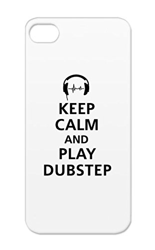 Dirtproof Black For Iphone 5S Keep_Calm_And_Play_Dubstep__F1 Beat Breakdance Keep Cool Electro Jungle Play Club Rap Remix Hip Hop Music Dub Dance Calm Music 2 Step Dj And Dance Electronica Instrumental Dubstep Cover Case