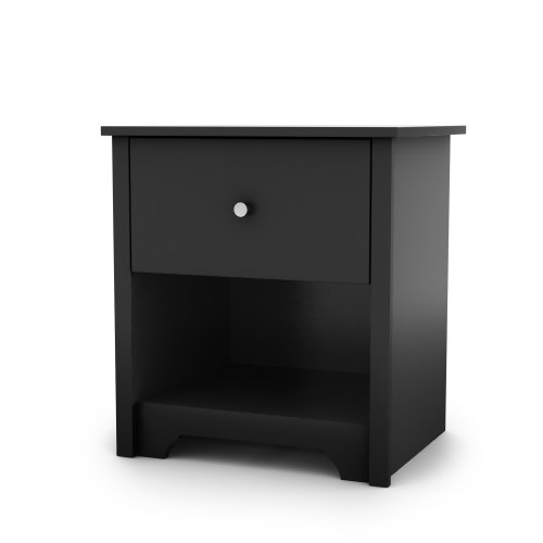 Find Cheap South Shore Vito Collection Night Stand, Black