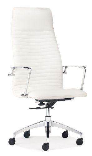 Zuo Modern Lion High Back Office Chair, White