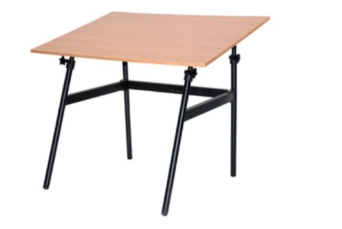 Martin U-DS1404CW Berkley Drafting-Art Folding Table, Black with CherrywoodTop, 30-Inch by 42-Inch Surface