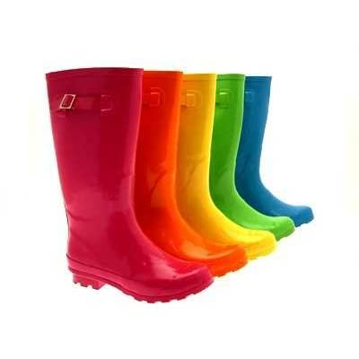 Ladies womens festival warm wellies wellingtons rain snow boots bright gloss colours