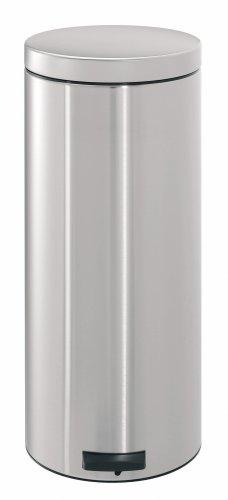 Brabantia Comfort Pedal Bin with Plastic Bucket, 30 Litre, Matt Steel Fingerprint Proof