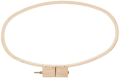 Wood Quilt Hoop 12 Inch X20 Inch Oval-3/4 Inch Depth (Embroidery Oval Hoop compare prices)