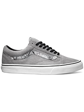 Buy Vans Old Skool (Snake) Frost Gray Silver VN-0VOKC31 Shoes by Vans