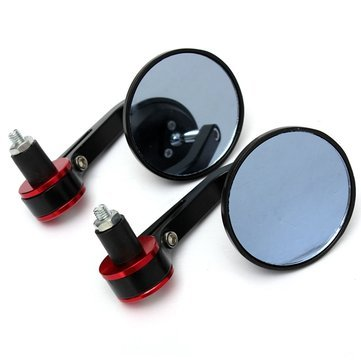 7/8-inch-Motorcycle-Motorbike-Bar-End-Rearview-Mirror-Rrounded